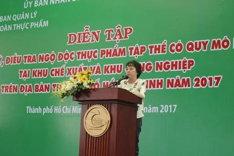 Tổ chức Diễn tập xử lý, điều tra ngộ độc thực phẩm có quy mô lớn  trong Khu Chế xuất – Khu Công nghiệp trên địa bàn thành phố Hồ Chí Minh 2017